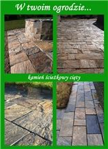 Charcoal Gray Jenkow Slate/Slate Cut Stone Four-Sided Pavers