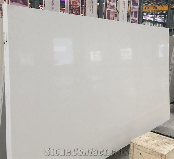 Artificial Pure White Quartz Slab Sparkle For Countertop Price