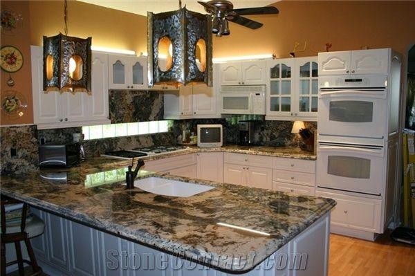 Exotic Granite Kitchen Countertops, Granite Backsplashes