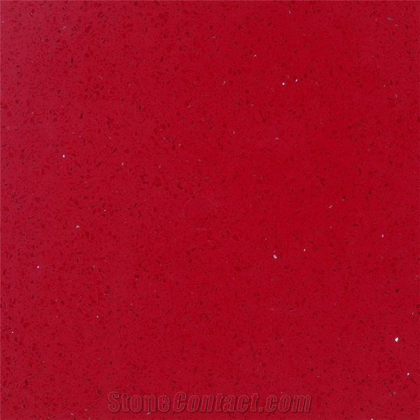 Zhs 170213 1 Red Quartz Stone Slabs Tiles Engineered Modified Solid Surface Countertops Vanities