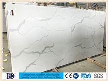 Calacatta White Quartz Slab in China, 2cm Calacatta White Engineered Quartz Slabs in Canada,3cm Solid Surface Calacatta White Quartz for Kitchen,Caesarstone Calacatta White Quartz7414