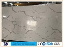 Coarse Grain Calacatta White Quartz from China, 2cmpolished Calacatta White Quartz for Kitchen Countertop,3cm Calacatta White Engineered Quartz from Doingstone, Calacatta White Quartz Slabs7405