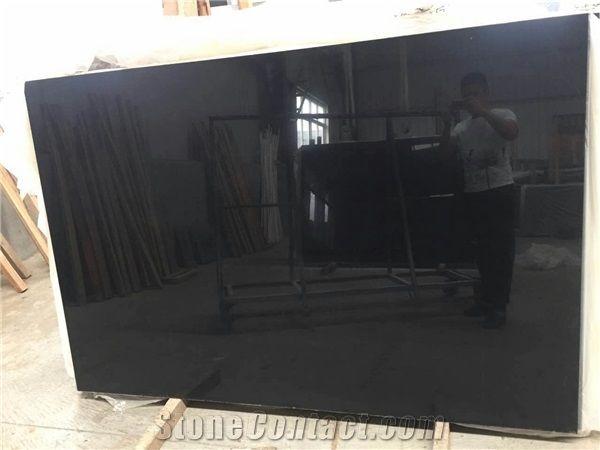 New Black Belgium Marble/Pure Black Marble Quarry Owner/King Black