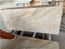 Yellow Color Granite Golden River Kitchen Bullnose Countertops,Wotkyop,Bench Top