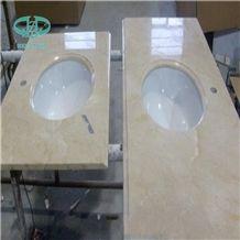 Beige Marble Vanity Top with Undermount