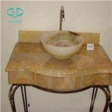 Beige Onyx Sink, China Basins Yellow Onyx Vessel Sinks, Wholesale Sinks,Distributed Basins,Rosin Crystal Yellow Farm Basins, Factory Nature Stone Sinks, Manufactured Cheap Square Wash Basins