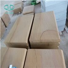 China Yellow Sandstone Pool Coping Tiles or Flooring/Wall Cladding/Step with Gold Like