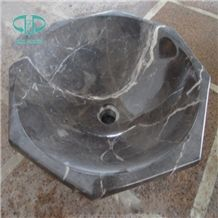 Dark Emperador Marble Wash Basins, Bathroom Sink, Brown Marble Bathroom Vessel Sinks