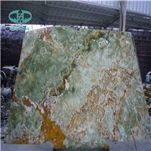 Dark Green Onyx Slab, Pakistan Green Onyx