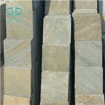 Golden Sand Slate Slabs & Tiles, China Yellow Slate
