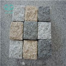 Gray,Dark Granite Cubic Paving Stone