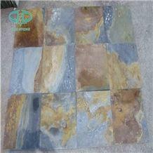 Natural Rectangular Shape Roofing Slate Rustic Brown Slate Roof Tile