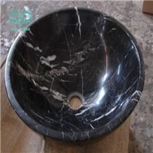 Nero Marquina Bathroom Sinks, Black Marquina Wash Bowls, Marble Basin,Marble Wash Basin