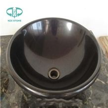 Shanxi Black Granite, Absolute Black Granite, Black Granite Wash Basin and Bathroom Sink/Round Black Granite Wash Basin and Bathroom Sink/ Washbasin / Bathroomsink