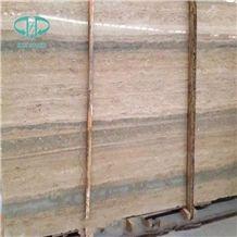 Travertino Romano Ocean Silver Slabs & Tiles, Italy Beige Travertine for Countertop