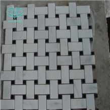 White - Black Marble Mixed Mosaic