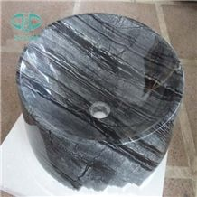 Wooden Marble Basins, Ancient Wood Marble Basins, Black Wood Marble Sinks, Bathroom Sinks