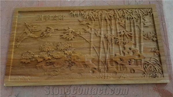 3d Yellow Sandstone Art Works For Wall Cnc Carving Art