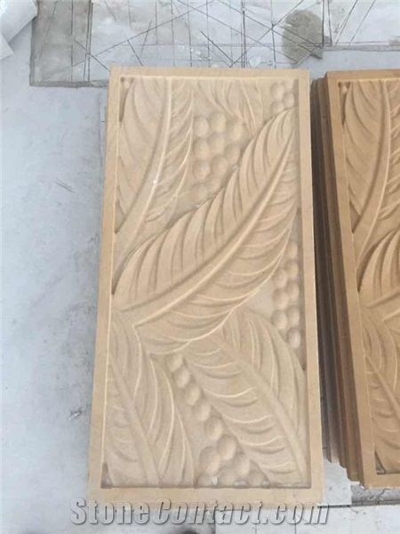 Cnc Carving Marble Building Ornaments 3d Stone Art Wall