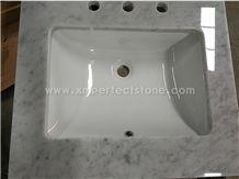 24 X22 ,60 X22 One Sink ,Carrara White Marble Top,Vanity Top/Countertop