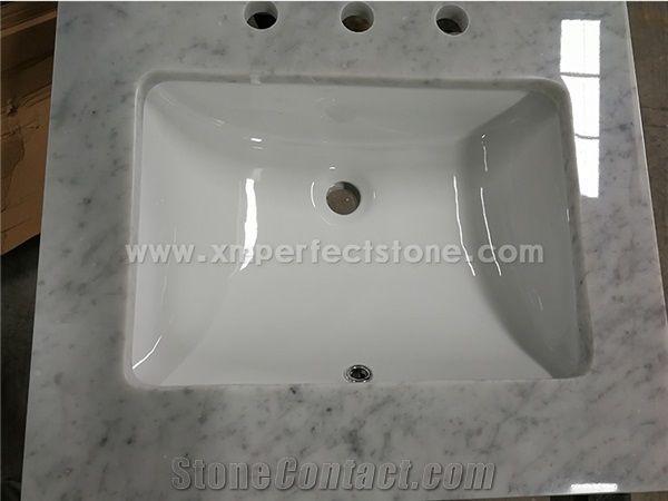 Carrara Marble Bathroom Countertops Custom Vanity Tops White