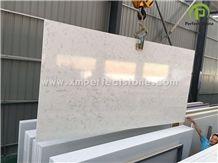 Carrara White Quartz Slabs/Bianco Carrara Quartz/White Quartz Slab with Veins
