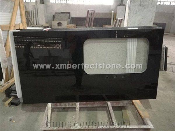 Cheap Black Pearl Granite Kitchen Countertop 3cm From China Black