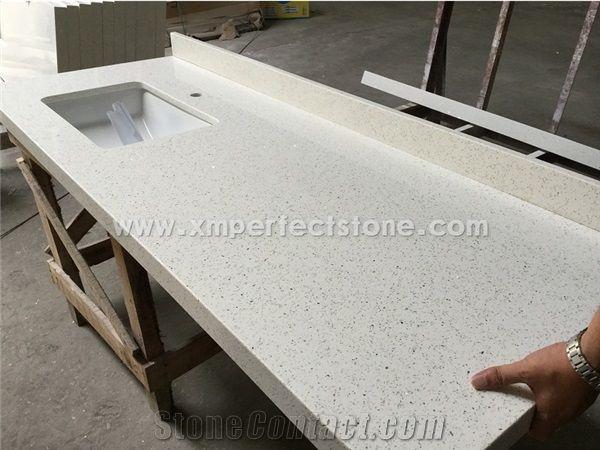 China Crystal White Quartz Countertops