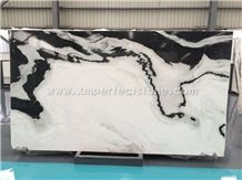 China Panda White Slabs/Black and White Multicolor Marble/Panda White Marble
