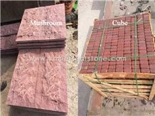 Chinese Quarry New Red Granite Price / Granite Paving Sealer / Outdoor Paving Tiles / Curb Granite / Mushroom Stone for Wall Tiles / Exterior Tile for Driveway Decorative / Quarry Tiles for Sale
