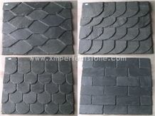 Fish Scale Shape Roof Tiles/Dark Grey Roofing Slate/Slate Roof Tiles