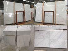 New China Statuario Marble Slabs / Oriental White Marble Tiles / Polished Marble Tiles Bathroom / Marble Slab Flooring