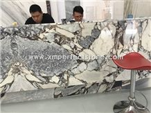 Reception Table China Galaxy Blue Marble Slabs & Tiles/China Multicolor Marble/Hotel and Mall Hall Floor & Wall Project Material/Grey-White-Black Marble