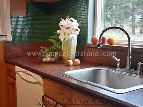 Red Dragon Granite Kitchen Island Top