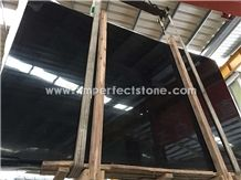 Royal Black Marble Slabs/Black Wood Vein Marble/High Polished Black Marble Slabs