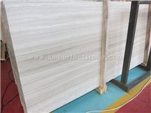 Top Grade China White Wood Veins Grain Marble Slabs,Wooden Marble, White Wood Grain Marble, Wooden Vein White Marble Honed Slabs, Flooring Tiles