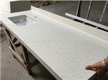 White Quartz Stone Countertop/White Quartz Kitchen Counter Top/Quartz Countertop