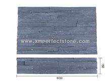 Xingzi Black Slate Cultured Stone/Split Surface Slate Tiles/Cultured Slate for Wall Cladding