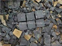 Zhangpu Black Basalt Cube/Frog Green Paving Stone/Zangpu Basalt Cube Stone