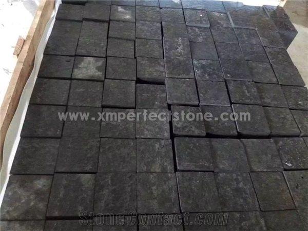 Zhangpu Black Basalt Paver Tile Chinese Black Cube Stone