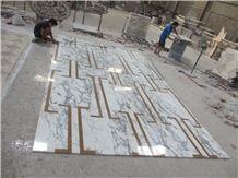 Arabescato Di Carrara,Bianco Arabescato,Arabascato Bianco,Arabescato Bianco,Arabescato Carrara,Arabescato Classico,Arabescato White Marble Parquet Pattern Tile