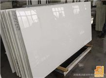 Polished Absolute White Dream Artificial Marble Slabs Tile for Wall Panel Floor Covering Paving,Translucent Backlit Crystallized Marble Look Glass Resin Stone,High Quality Non Porous Aritificial Marbl
