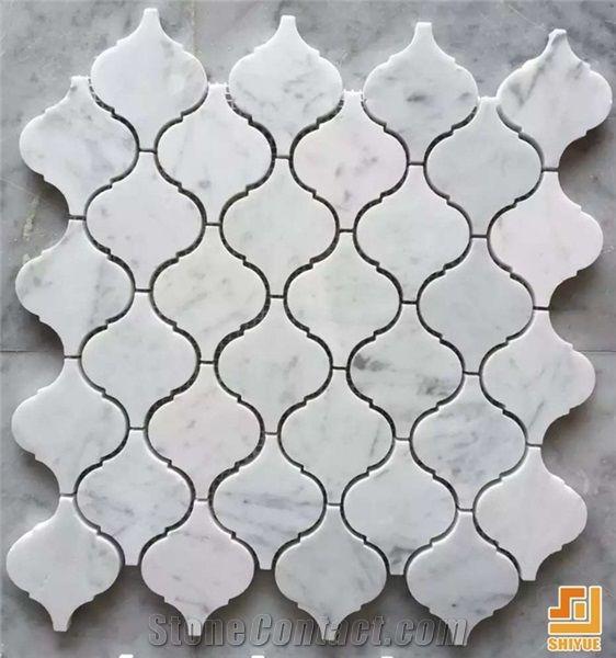 Virous Of White Marble Tilescarrara White Mosaic Patternhot Sale
