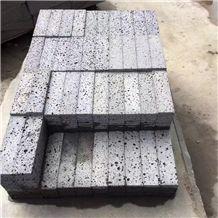 Hainan Gray Basalt Paving Cube Stone Basalt Paver for Exterior Decoration