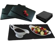 Black Slate Disk, Black Slate Plates, Black Slate Food Plates, Black Slate Cup Plates, Black Plates, Kitchen and Cook