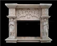 Flower Carved Fireplace ,Handcarved Masonry Fireplace ,Chinese Sculptured Fireplace Decorating.Interior Fireplace Natural Stone