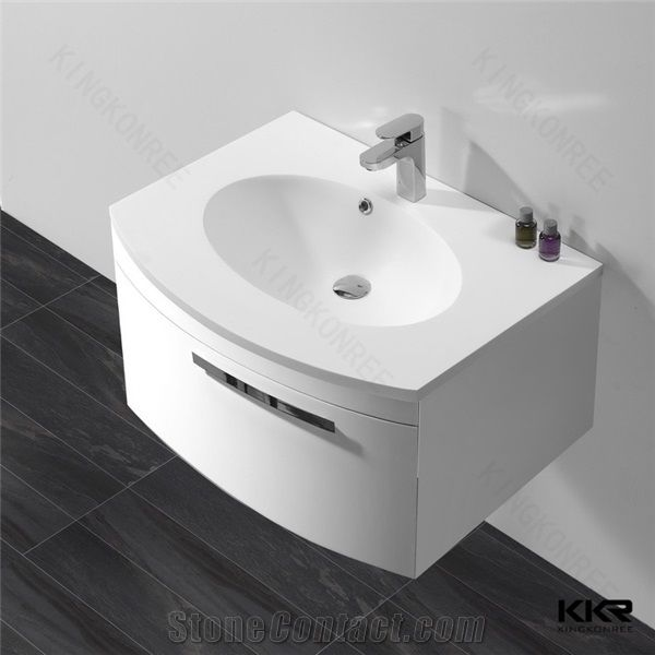 High Quality Artificial Stone Solid Surface White Marble Bathroom Vanity Portable Hand Wash Basin Cabinet Sinks From China Stonecontact Com
