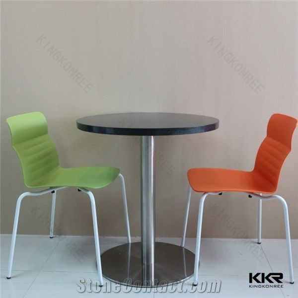 Solid Surface Custom Artificial Stone French Coffee Dining