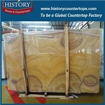 China Most Popular Wholesale Translucent Natural Onyx Tiles Cut-To-Size Slab for Hotel Lobby Decoration, Wall Covering, Floor Panel, Coffee Bar, Vanity Tops, Decoration