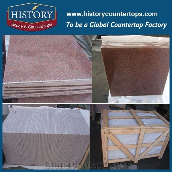 High Quality India Ruby Red Granite for Flooring Tile and